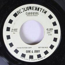 Soul Promo 45 Gene & Jerry - Carousel / Hootenanny Christmas On Roulette