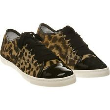 """NW AUTH LANVIN LEOPARD SKIN PONY TRAINERS SNEAKERS SZ41""""RET$798 BARGAIN"""