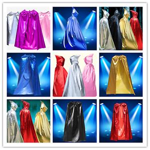 Kids Adults Super Hero Man Avengers Hood Robe Cape Cloak Fancy Dress Party Wear