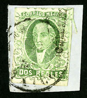 Mexico Stamps # 3a VF Used Scott Value $45.00