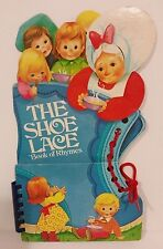 THE SHOE LACE Book of Rhymes 1978 TUFFY BOOKS, INC., Hardcover, Shaped like Shoe