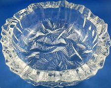 RARE Vintage 1960's HOYA Japan CRYSTAL Art Glass ICEBERG BOWL VG - In Australia