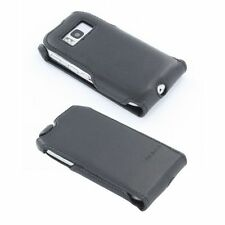Genuine Nokia Black Leather Carrying Case Cover + Screen Protector for Nokia E6