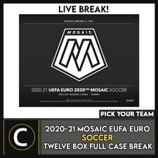 2020-21 PANINI MOSAIC euro 2020 fútbol 12 Caja romper #S181 - Elige Tu Equipo