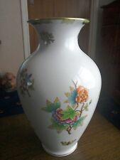 "*Vintage* Herend Hungary""Queen Victoria"" 9""vase *Antique*"