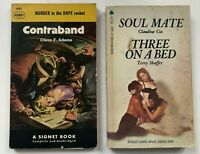 Lot 3  PULP FICTION LURID Paperback VINTAGE TRASHY Pulp Books Contraband