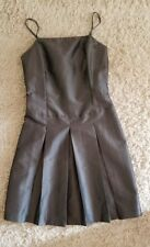 JUNIORS SIZE 5 SLATE GRAY METALLIC DRESS SPAGHETTI STRAP ABOVE KNEE FESTIVE