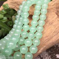 AAA+ 100% Natural 10MM Light Green Jade Round Gemstone Loose Beads 15''Strand