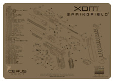 For Springfield XDM Armorers Cleaning Mat Cerus Gear PREMIUM  Made in USA  FDE