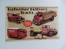 Danbury Mint BUDWEISER DELIVERY TRUCKS Brochure Pamphlet Mailer