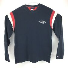 Tommy Hilfiger Jeans Pull Over Sweater Mens Size Large Navy Blue