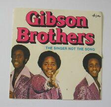 VECCHIO ADESIVO anni '80 / Old Sticker GIBSON BROTHERS BAND GRUPPO (cm 9 x 9)