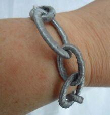 Etnika Pale Grey Silk-Like Chain Bracelet BNWOT