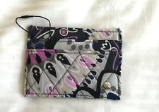 Vera Bradley Mimosa Medallion Card Case-quilted- floral blue gray purple