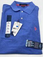 Polo Shirt Mens XL Blue Short Sleeve Polo Ultimate Pique US Polo Assn NEW!