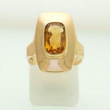 Gold Ring 585er Gelbgold 14K | 6,0g | Gr. 51 | 1 Madeira Citrin | UVP 699€