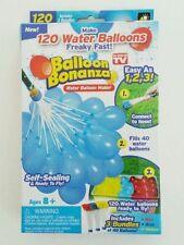 BALLOON BONANZA 120 WATER BALLOONS SELF SEALING WATER BALLOONS 3 BUNDLES OF 40