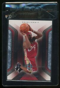 2007-08 UD Ultimate LeBron James Cleveland Cavaliers Jersey BGS 9 RCR
