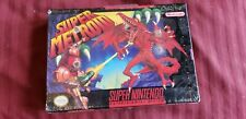 New Sealed Super Metroid Nintendo Black Label With H-Seam LOOK!