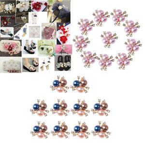 20x Diamante Rhinestone Buttons Crystal Pearl Embellishments Dress Flatback