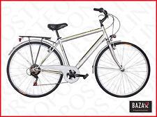 Bici City Bike con telaio in acciaio taglia 28 telaio 48 silver 76505