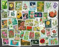 Flowers on stamps collection of 500  all different