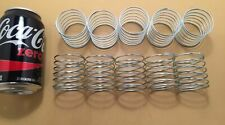 "Compression Springs 0.07"" Wire x 1.86"" OD x 1.87"" Long Lot of 10 Pcs White"
