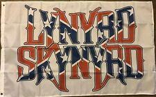 Lynyrd Skynyrd Flag 3x5 White banner Rebel southern rock Man Gave Bar