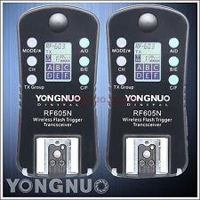 Yongnuo Wireless Flash Trigger RF-605 LCD for Nikon D5500 D5300 D3300 D3100 D90
