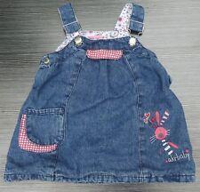AKR BABY Denim-Tablier doublé Robe Taille 71CMS age 9 mois