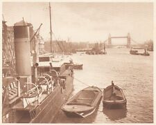 G0113 England - London - Le Port - Stampa d'epoca - 1923 Old print