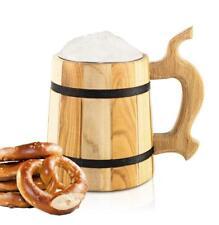 Jarra de Cerveza con edelsteineinsatz 550ml madera holzbecher CERVEZA#3