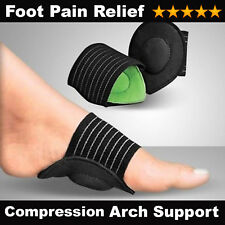 Compression Foot Arch Insole Support Heel Pain Relief Cushion Aid Fallen Arches