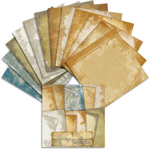 12PCS Vintage Paper Pad Scrapbooking Journal Album Card Diary Stationery Craft