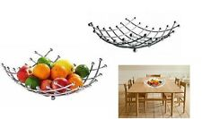 Chrome Metal Fruit Basket Holder Kitchen Dinning Table Decoration Fruit Bowl