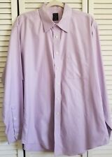 Joseph & Feiss Dress Shirt Lavender 100% Cotton Fitted 17 34/35 Non-Iron Texture