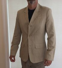 CALVIN KLEIN JEANS COTTON FLAX BLEND TAN SUMMER BLAZER MENS LARGE. NEW NO TAGS