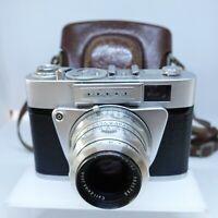 Altissa Altix NB 35mm Camera w/ Carl Zeiss Jena Tessar 50mm F2.8 Lens - Working