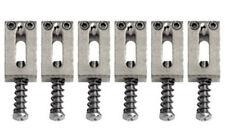 Gotoh S11C Set of 6 Brass Tremolo/Bridge Replacement Saddles Chrome