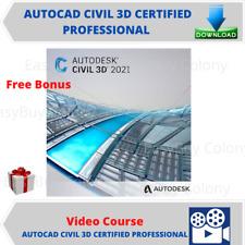 Autocad Civil 3D Certified Professional Video Training Course + Free Bonus
