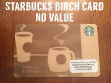 """2013 Starbucks Coffee Special Limited Edition Birch Wood Gift Card """"NO VALUE"""""""