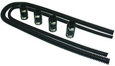 """44"""" Black Stainless Flexible Heater Hose Kit W/ Billet Clamp Covers SBC BBC SBF"""