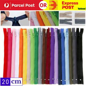 20/40pcs Assorted Color Nylon Close End Zipper Pack DIY Craft Dressmaking Zip