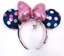 Disney Parks 2019 Rock Bow Minnie Ears Sequins Mickey Mouse Polka Dot Headband
