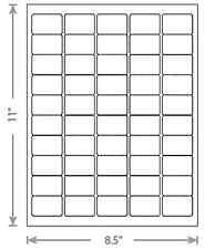 100 Sheets White Laser Inkjet 1.5x1 Blank UPC Barcode Labels 50-Up