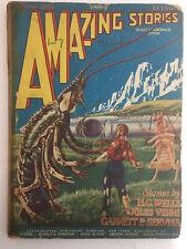Amazing Stories Magazine October 1926 Vol 1, #7 Vintage Pulp Science Fiction