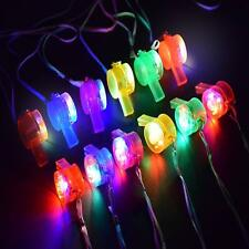 Glow Whistle Necklace Party Supplies Led Light Up Whistle Glow in The Dark Party