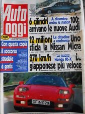 Auto OGGI n°193 1990 Fiat DINO 2000 contro Lancia Thema 8.32  [Q202]
