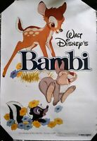 """WALT DISNEY'S BAMBI RE-RELEASE MOVIE POSTER 18.5x27"""" OFFICIAL LICENSED"""