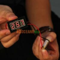 LED 3-Digital Panel Mini Voltmeter Spannungsanzeige DC 2.5-30V Wasserdicht Hot